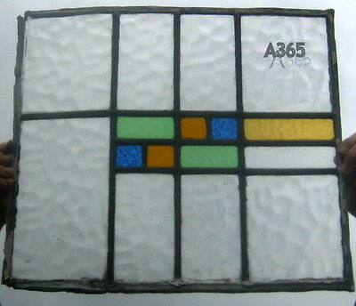 A365    Stained Glass  Transom . Ca 1930s