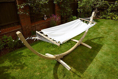 Wooden Hammock with frame and canopy garden freestanding seat