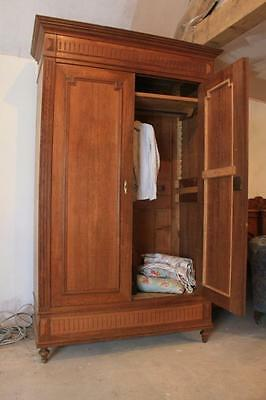 Original  French Oak Armoire. knockdown. EASY STAIR ACCESS
