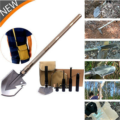 Tactical Multi-tools Folding Shovel Camping Outdoor Survival Spade Military AG