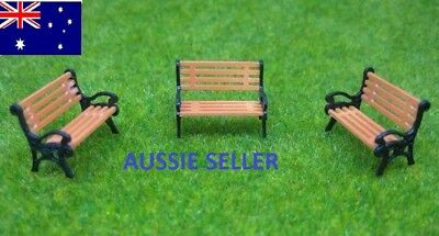 5 PCS N Gauge Park / Station Benches Seats 1:150