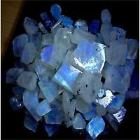 200.00Cts. 100% NATURAL RAINBOW MOONSTONE WHOLESALE LOT ROUGH LOOSE GEMSTONES