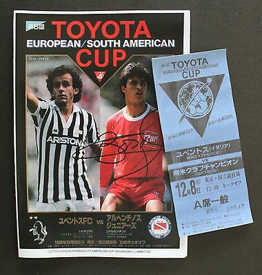 1985 Toyota Cup Replica Programme & Ticket Juventus V Argentinos Juniors
