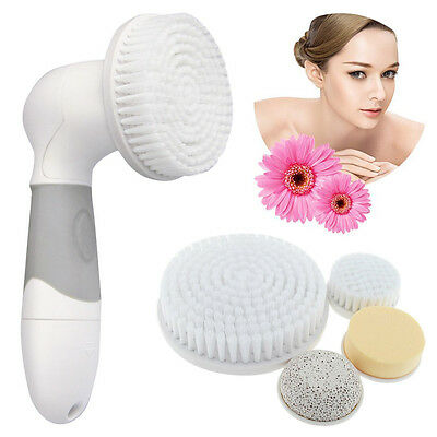 4 in 1 Electric Facial Sonic Cleansing Brush Face Skin Care Exfoliator Cleanser