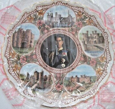Goss Bone China L/E 2000 Plate. The 25th Anniversary Prince of Wales Investiture