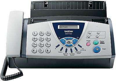 41A2 Brother FAX-T104 Thermo Transfer Faxgert, grau/wei