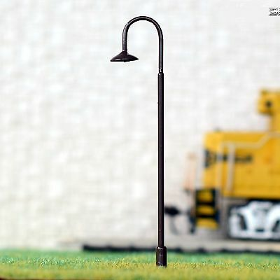 1 x O Scale LED Yard Railroad Street Station Warm White Lamp Post Light 14CM