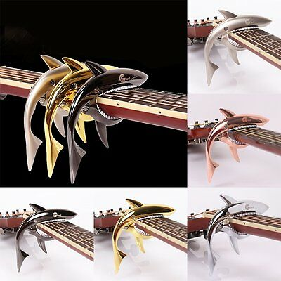 Quick Change Guitar Clamp Funny Shark Shape Zinc Alloy Guitar Jaw Capo Clamp AG