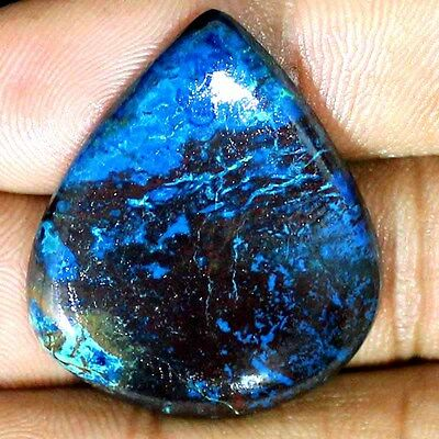 41.80 CTs ~SUPER~ NATURAL AFRICAN BLUE AZURITE PEAR CABOCHON LOOSE GEMSTONE