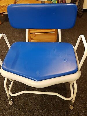 bariatric commode mobility aid larger man woman comfy seating
