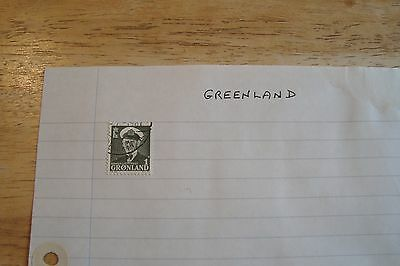 Greenland stamps, selling old collection of 1 stamp, see scans