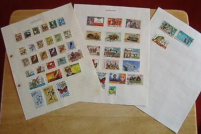 Uganda stamps, selling old collection of 49 stamps, see scans