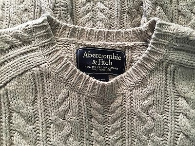 Lot of 2 Wool Blend Mens Sweaters, Distressed Abercrombie L, American Eagle S