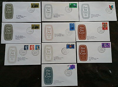 10 x Australia First Day Covers 1966-1967