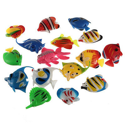 10x Aquarium Artificial Plastic Bubble Fish Jellyfish Seahorse Fish Tank Decor