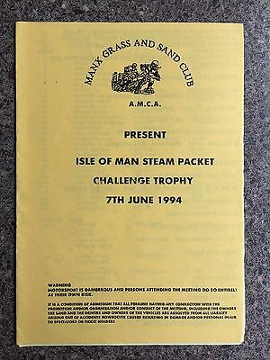 Grass track programme Manx Grass and sand club 1994 Isle of Man motocross includ