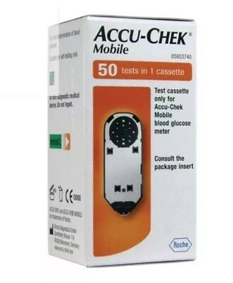 Accu Chek Mobile Test Strips Box Of 50 Test Strips Genuine In Sealed Box Sale