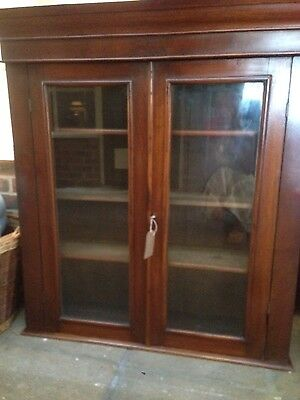 antique mahogany bookcase/cabinet/dresser top