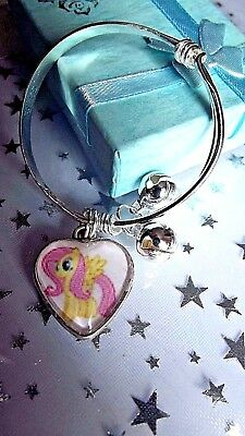 MY LITTLE PONY FLUTTER SHY HEART BRACELET,BANGLE AGE 2 to 4 YEAR GIFT BOX PARTY