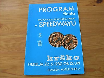 Polish speedway Final programme dated 22-6-1980   (PS250)