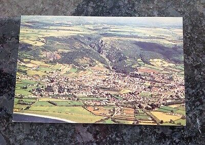 Old Postcard Showing An Aerial View Of Cheddar