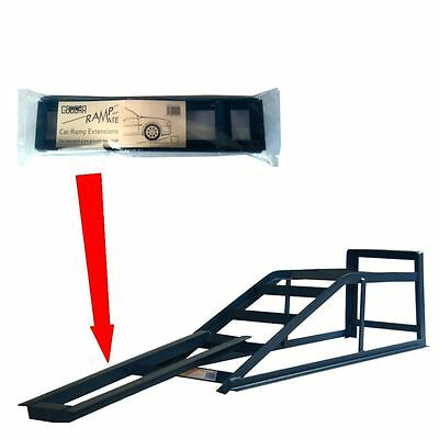 Pair Of Wide Heavy Duty 2.5 Tonne Car Van Ramps With Low Clearance Extensions