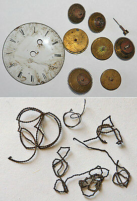 LOT DE PIECES de montre à coq pour restauration.