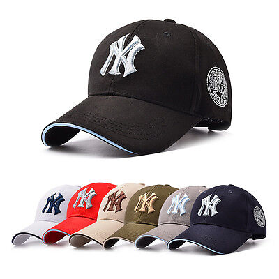 Women Men Casual NY Snapback Baseball Caps Solid Adjustable Cap Bboy Hip Hop Hat