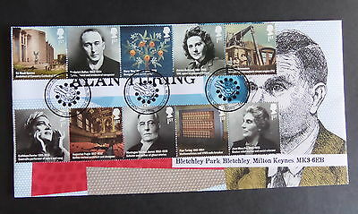 2012 Britons of Distinction Alan Turing  Bletchley Park Post Ltd Ed FDC 3 of 50