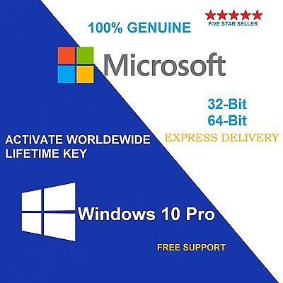 Genuine Windows 10 Pro 32 / 64Bit Oem Original License Key- Scrap Pc