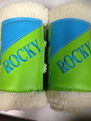 Horse floating work paddock horse boots browband any size set of 4 name boots