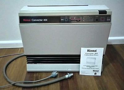 Rinnai Convector 404 NATURAL Internal Gas Heater SAFE AROUND KIDS 400 series