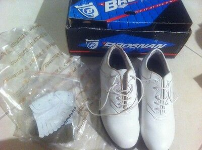 Womens Brosnan White Leather Golf Shoes Size 7