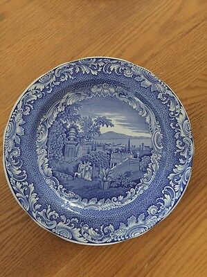 "One Spode Blue 10"" Collector Plates From The Engravers' Archive Collection."
