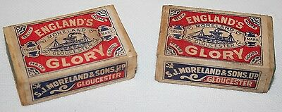 England's Glory - 2 Vintage Matchboxes with Contents