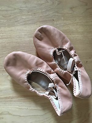 ABT Spotlights Girl's Ballet/Dance/Jazz Slippers Shoes Size 3 Pink Leather