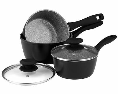 Russell Hobbs Stone Non-stick Aluminium 16/18/20cm 3 Piece Induction