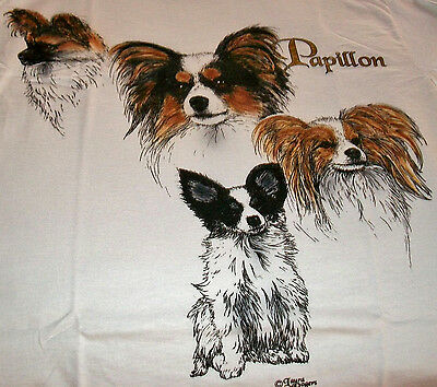 "Papillon T- shirt  "" Natural "" Small ( 34 ~ 36 )"