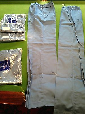 Job Lot - 5 New Pairs of Scrubs Trousers - Blue - 36W elasticated - C16