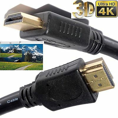 GOLD 1080P LONG HDMI CABLE LEAD SMART HD TV 3D METRE 1m 2m 5m 10m 15m 1.4V PS3
