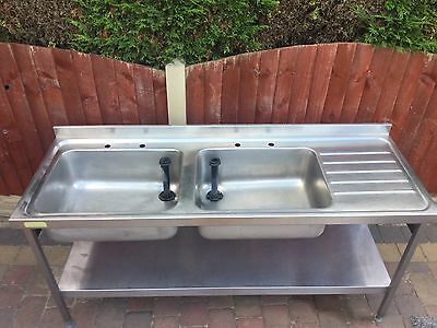High Grade Double Stainless Steel Commercial Sink Sissons/Franke