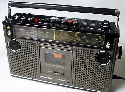 ★★★Vintage!!! CONTINENTAL EDISON 4 HP Boombox Stereo Radio Cassette Recorder★★★