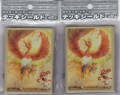 Pokemon Card Official Sleeve Smeargle and Ho-oh 2 Packs (64) Pokemon Center