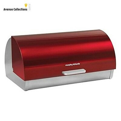 Morphy Richards Accents Roll Top Bread Bin - Red