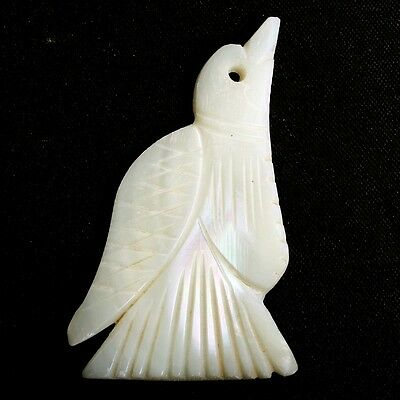49x30 mm Carved Birds MOTHER OF PEARL Gemstone For Pendant Loose 30 Cts S-32139