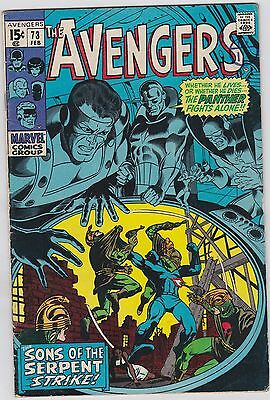 Marvel comics The AVENGERS #73 Feb 1970  VF+ 2nd Bronze Age Issue