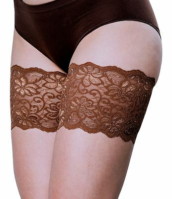 """Bandelettes, Bandelettes DOLCE CHOCOLATE Elastic Anti-Chafing Thigh Bands, 5.5"""""""