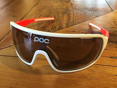 POC Do Blade Cycling Glasses – White/Zinc Orange – GENUINE!