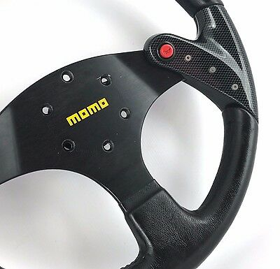 MOMO F1 Concept 350mm leather, carbon fibre car steering wheel.Genuine. Bargain!