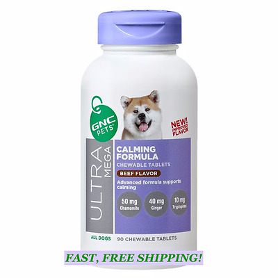 GNC Pets Ultra Mega Calming Formula Chewable Tablets (90) Beef Flavor EXP 09/19
